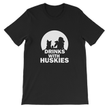 Drinks With Huskies - Siberian Unisex T-Shirt