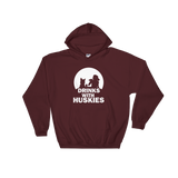 Drinks with Huskies - Siberian Husky - Pullover Hoodie 8 oz