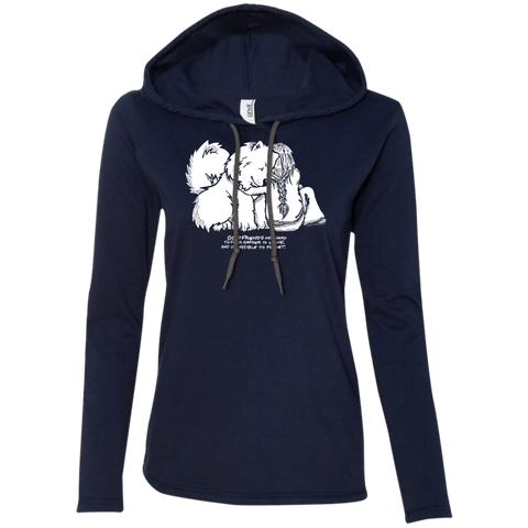 Good Friends -Samoyeds Ladies Lightweight Hoodie