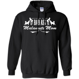 Bad Ass Malamute Mom - Alaskan Malamute - Pullover Hoodie 8 oz