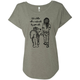 Life is better Malamute - Alaskan Malamute - Ladies Triblend Dolman Sleeve