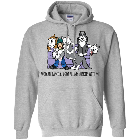Choose or Create Caption - Siberian Husky - Pullover Hoodie 8 oz