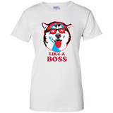 Like a Boss - Malamute Ladies T-Shirt