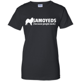 Samoyeds (because people suck) Ladies T-Shirt