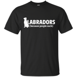 Labradors (because people suck) Softstyle T-Shirt