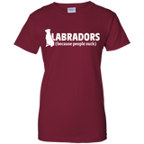 Labradors (because people suck) Ladies Cotton T-Shirt