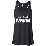 Samoyed Mom - Dog - Flowy Racerback Tank