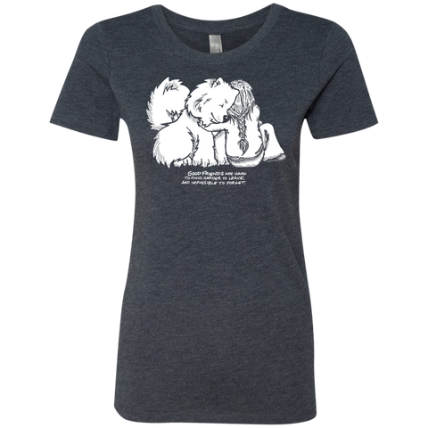 Good Friends -Samoyeds Ladies Triblend T-Shirt