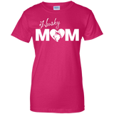 Husky Mom- Siberian Huskies - Ladies T-Shirt