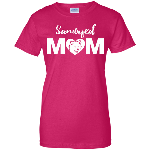 Samoyed Mom - Dog -Ladies T-Shirt