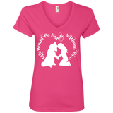 Life Without Woo - Alaskan Malamute, Siberian Husky - Ladies' V-Neck Tee