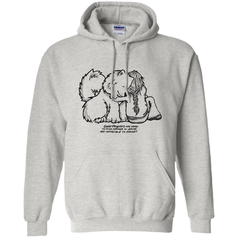 Good Friends Samoyed Pullover Hoodie