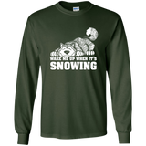 Wake Me When It's Snowing Alaskan Malamute - Longsleeve Tshirt