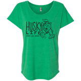 Husky Life Never a Dull Moment - Ladies Triblend Dolman