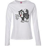 No Bad Days - Alaskan Malamute Ladies Long Sleeve TShirt