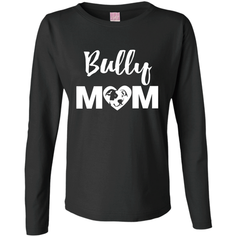 Bully Mom - Pitbull Terrier - Ladies Longsleeve TShirt