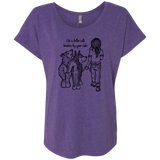 Life is better Huskies - Siberian Husky -  Ladies Triblend Dolman Sleeve