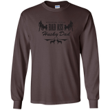 Bad Ass Husky Dad - Siberian Husky - LS Ultra Cotton Tshirt