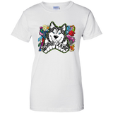 Snow Life Graffiti - Siberian Husky Ladies T-Shirt