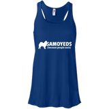 Samoyeds (because people suck) Flowy Racerback Tank
