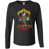 Pitbull Terrier Rock Guns N' Roses Ladies Long Sleeve TShirt