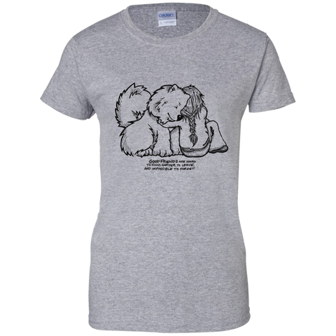 Good Friends Samoyed Ladies T-Shirt