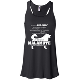 My Dog is Not a Wolf, My Dog is a Malamute -  Flowy Racerback Tank