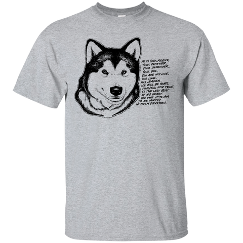 Malamute Devotion - Alaskan Malamute - Cotton T-Shirt