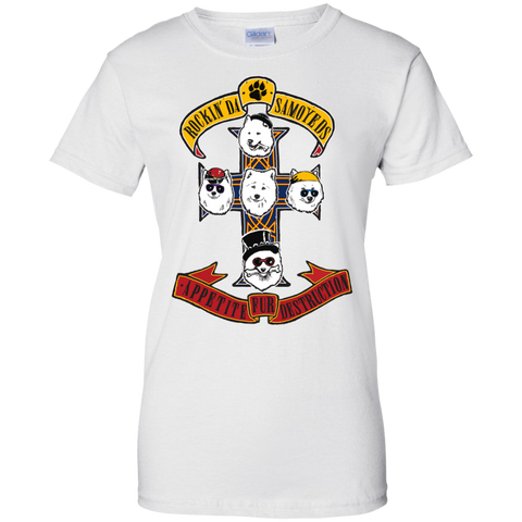 Samoyeds Rock Guns N' Roses Ladies T-Shirt