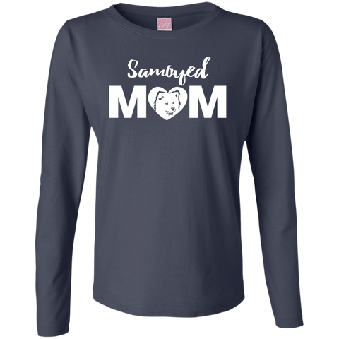 Samoyed Mom - Dog Ladies Longsleeve TShirt