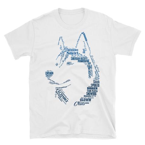 Husky Words - Siberian Huskies Silhouette - Soft Style Shirt