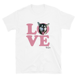 LOVE - Custom Shirts for All Dogs - Your Dogs Photo Printed on Ladies T-Shirt