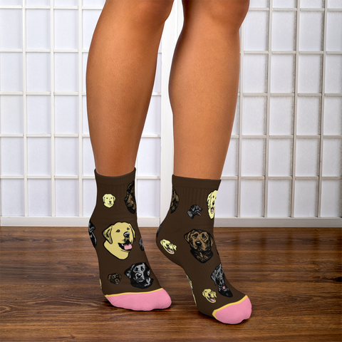 Labrador Retriever - Super Cute Fun Footie Socks for Dog Lovers!