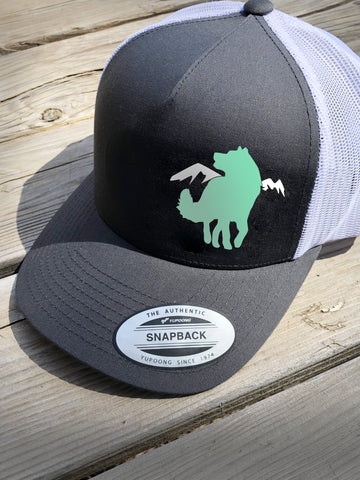 Dog Mountain Wings Trucker Hat - Alaskan Malamute - Siberian Husky
