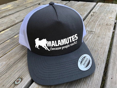 Alaskan Malamute People Suck Trucker Hat