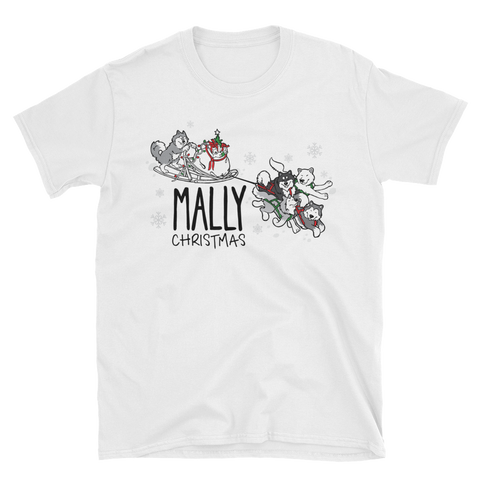 Mally Christmas - Alaskan Malamute - Holiday T-Shirt