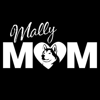 Mally Mom Vinyl Decal - Alaskan Malamute - Car, Truck, Window