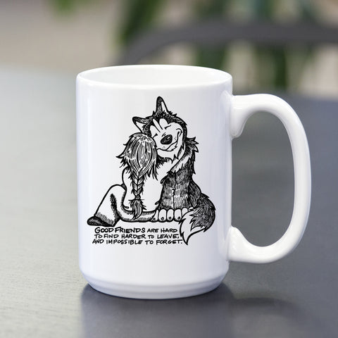 Good Friends Siberian Husky Mug - Coffee Mug