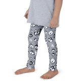 Kids Leggings! Siberian Husky and Alaskan Malamute Face Art Pattern - Made in America