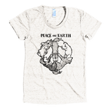 Peace on Earth - Siberian Husky, Alaskan Malamute Ladies Tri-Blend Tee