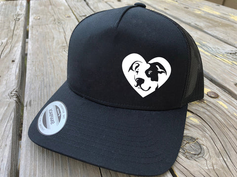 Pitbull Heart Trucker Hat