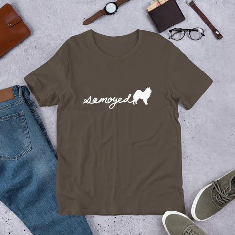 Samoyed Script Tee - Samoyed Dogs