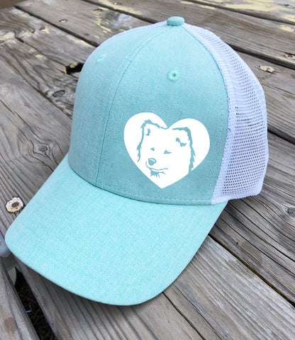 Samoyed Heart Trucker Hat