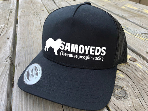 Samoyed People Suck Trucker Hat