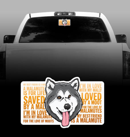Love of a Malamute - Alaskan Malamute - Car, Vehicle, Sticker