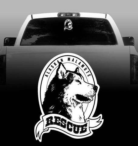 Alaskan Malamute Rescue - Alaskan Malamute - Car, Vehicle, Sticker