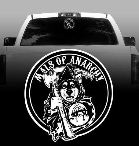 Mals of Anarchy -  Vinyl Decal - Alaskan Malamute - Car, Vehicle, Sticker
