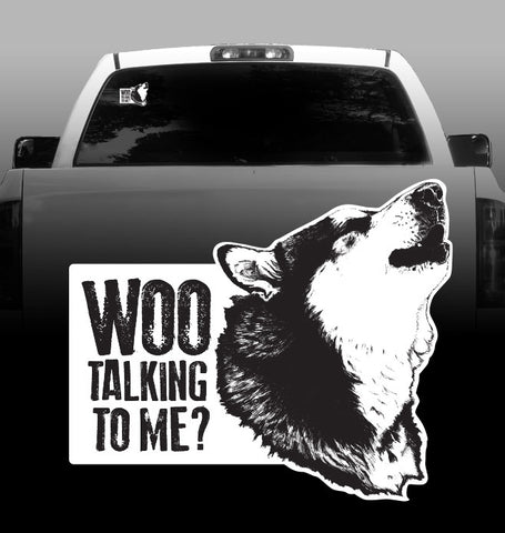 "Malamute ""Woo Talking to me"" -Vinyl Decal - Alaskan Malamutes-sticker"