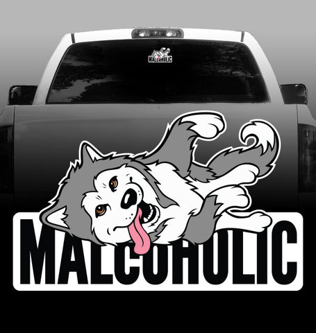 Malcoholic Vinyl Decal - Siberian Husky - Car, Vehicle, Sticker