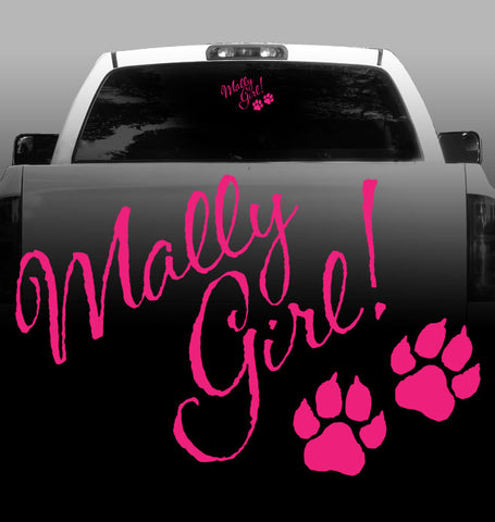 Mally Girl Vinyl Decal - Alaskan Malamute - Car, Vehicle, Sticker